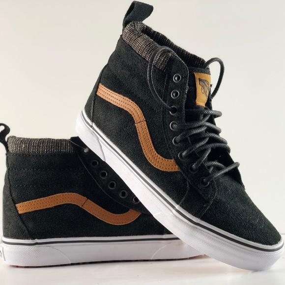 9ed566987272ea NWT Vans SK8-Hi MTE Black Tweed Skate Shoes